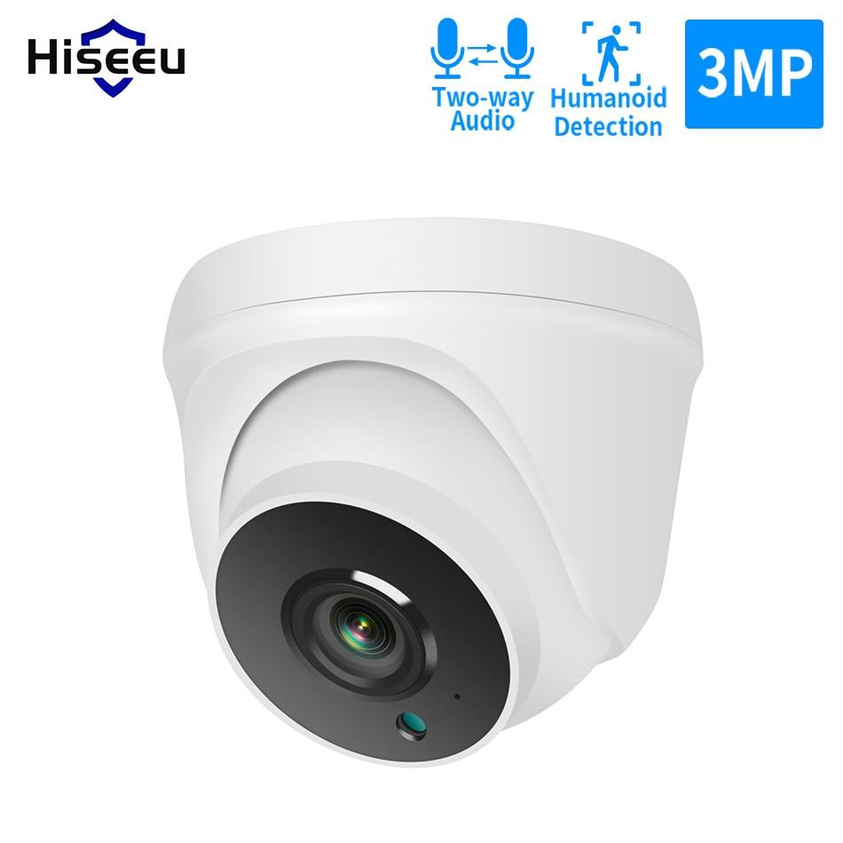 Hiseeu 1536P 3MP Indoor Dome WIFI IP Camera 2-way Audio Security Video Surveillance for Hiseeu Wireless Securtiy Camera System