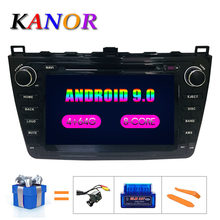 KANOR Android 9.0 4 + 64g 8 cœurs IPS 2din autoradio pour Mazda 6 Ruiyi 2008 2009 2010 2011 2012 WIFI GPS lecteur DVD multimédia PC(China)
