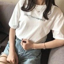 ¿No el texto lo camiseta mujer pálido Grunge Instagram caliente emoción carta impresión Tumblr T camisa Retro camiseta de estilo Vintage