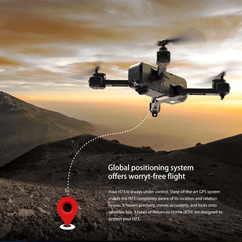H73 G Ps Smart Aerial Photography Folding Four-axis 1080P Adjustable Webcam 2K 5G 600 Mitu Pass Unmanned Aerial Vehicle