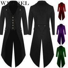 WEPBEL Gentlemen Men's Coat Fashion Steampunk Vintage Tailco