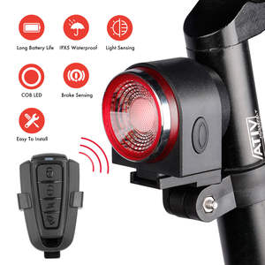 Rear-Light Alarm Bicycle Remote-Control LED with Anti-Thief MTB Road-Bike Tail Waterproof