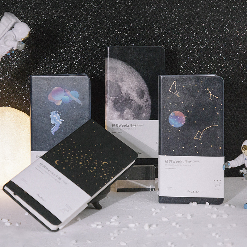 A6 Portable Travelers Journal Agenda 2020 Schedule Weeks Planner Notebook Creative Starry Planet Diary Bullet Office Supplise
