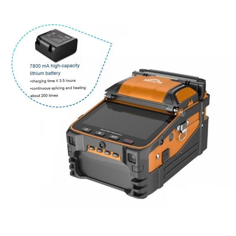 Многоязычный Интеллектуальный FTTH шесть моторов, дуговой сигнал, пожарный, волоконно оптический сращиватель для сращивания с OPM VFL, подарок д