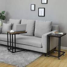 Table basse multifonction moderne rétro noire, mobilier de salon, bureau d'ordinateur, table d'appoint, HWC