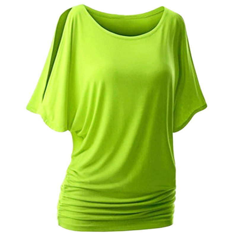 JODIMITTY 5XL Women Casual Summer T-Shirt Batwing Short Sleeve Loose Top Basic Tee Female Plus Size Basic Tunic Camisas Mujer