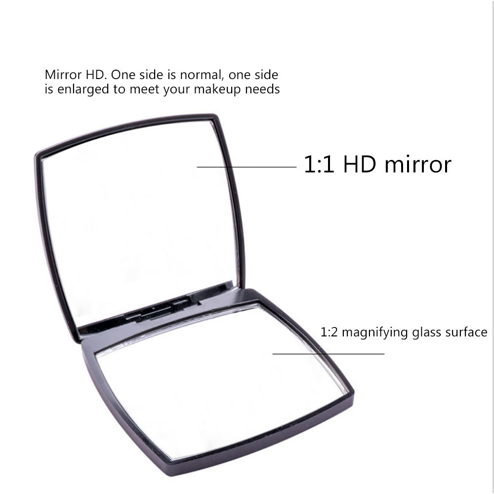 Mini Double Sides Portable Mirror Pocket Makeup Cosmetics Compact Mirrors Mini Mirror Square Shape  Shipping