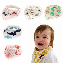 Водонепроницаемые детские нагрудники с треугольными чашечками из хлопка, детские нагрудники для малышей, нагрудники, слюнявчик для новорожденных, впитывающая салфетка