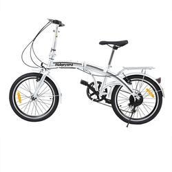 Yonntech 20 zoll Shimano Bremsen 7 Geschwindigkeit Silber Faltrad Erwachsene Fahrrad