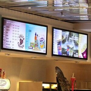 Image 4 - LED Poster Con Cornice Per Il Ristorante Luce Casella di Pubblicità di Vetro Temperato Ultra sottile Movie Poster Light Box Può Essere appeso sulla Parete