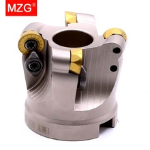 MZG EMRW 6R 5R RP 63 50 100 RPMT 1003 1204 Carbide Inserts End Mill Head Cutting Machining Round Nose Face Milling Cutter