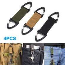 Newly 4pcs Heavy Duty Nylon Strategical Webbing Belt Key Chain Backpack Clip Buckle for Mountaineering BFE88
