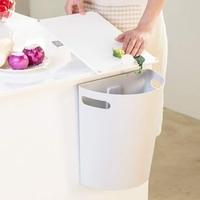 Mały kosz na śmieci  wiszący kosz na śmieci pod zlewem kuchennym  kosz na śmieci PP nad drzwi do szafki z górnym pierścieniem do zamocowania worek na śmieci w Kosze na śmieci od Dom i ogród na