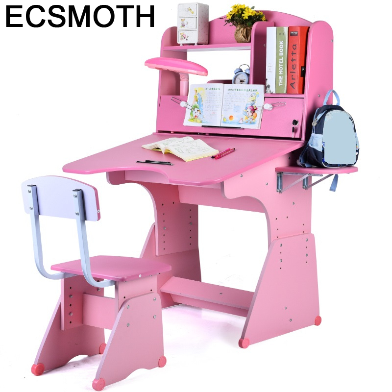 Estudio Tavolo Bambini And Chair Mesa De Estudo Escritorio Infantil Desk Adjustable Bureau Enfant Kinder Study Table For Kids