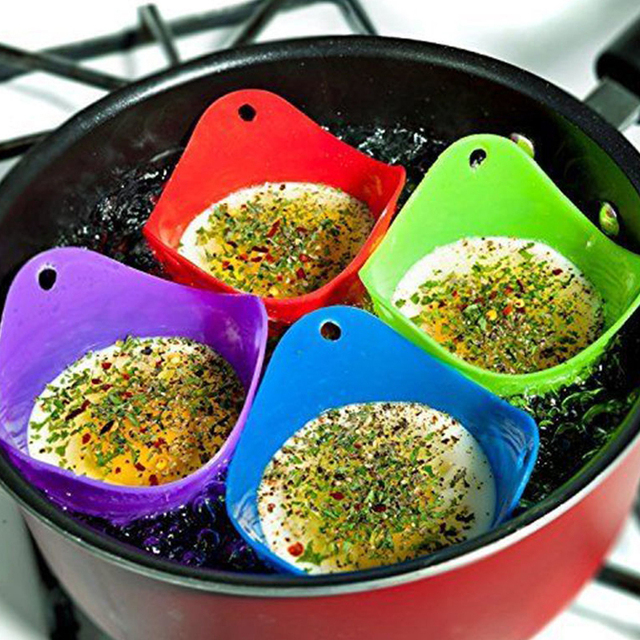 5 sztuk jajo silikonowe kłusownik kłusownictwo strąki jajko formy miska pierścienie kuchenka kocioł kuchnia akcesoria do gotowania naleśnikarka