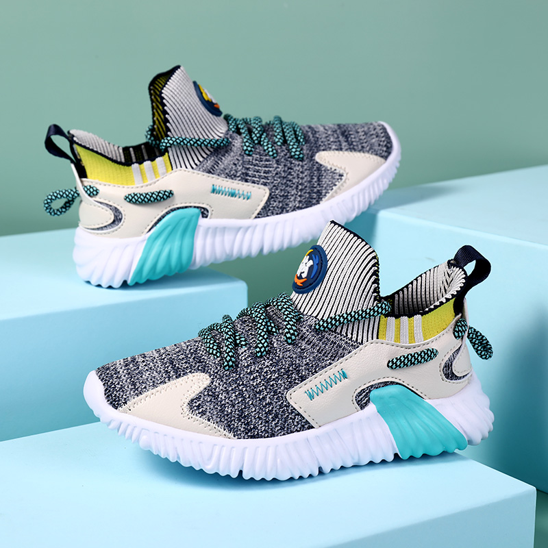 Kids Light Shoes Boys And Girls Casual Mesh Flying Textile Sneakers Breathable Soft Bottom Running Shoes Size 29-39