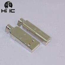 عالية الجودة الفضة سبائك النحاس USB USB B موصل جاك الذيل Sockect موصل ميناء Sockect ل ايفي الصوت معدات