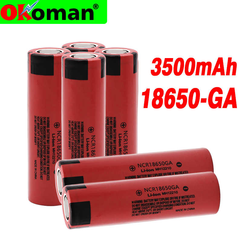 original NCR 18650GA high discharge 3.7V 3500mAh 18650 rechargeable battery flashlight flat-top lithium battery
