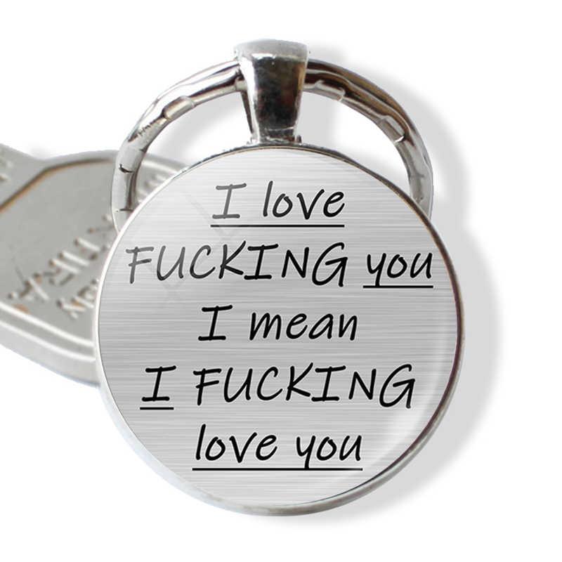 Романтический брелок на ключи в форме буквы ты мой любимый мудак Пары любовь Цитата брелок девушка друг брелок на День святого Валентина подарки