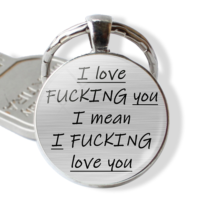 Romantic Letter Key Chain You're My Favorite Asshole Couples Love Quote Keychain Girlfriend Boyfriend Keyring Valentines Gifts