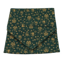 Christmas Table Runner Green Table Mats Cotton Linen Christmas Jacquard Table Decoration for Festival Event Home Decoratio|Table Runners| |  -