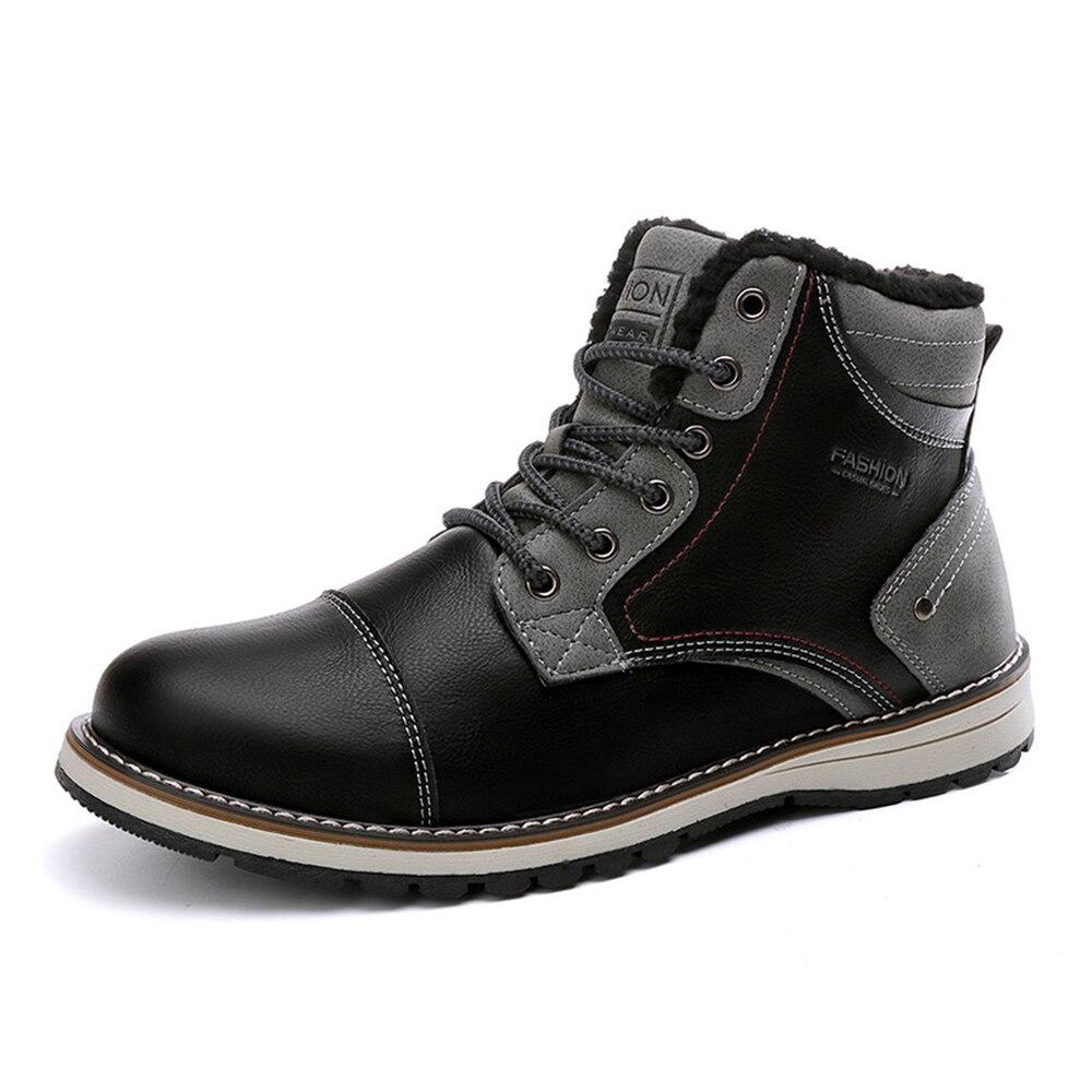 Nowe buty motocyklowe jesienno-zimowa Martin buty skóra pu dla mężczyzn motocyklowe buty jeździeckie Moto termiczna polarowa podszewka Moto buty