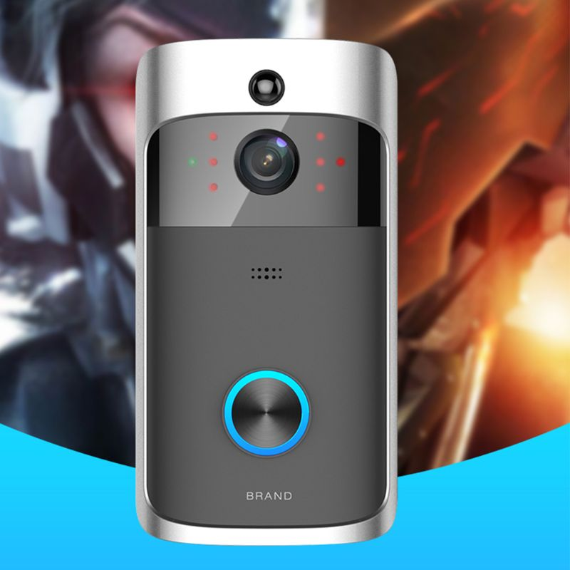 Wireless Smart WiFi DoorBell IR Night Vision Video Visual Camera Intercom Kit E65A
