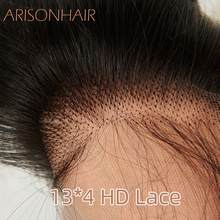 HD 13x4 lace frontal Human Hair Straight Transparent swiss lace Natural Color Lace Frontals Brazilian beauty forever Remy Hair