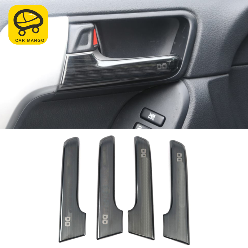 CarManGo For Toyota Land Cruiser Prado 150 2018 2019 Car Inner Door Handle Chrome Cover Trim Frame Sticker Interior Accessories