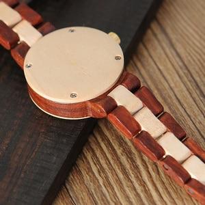 Image 5 - BOBO BIRD Wood Watch Female Women M19 Rose Sandal Minimal Dress Quartz Wristwatch Top Brand Luxury часы женские relogio feminin