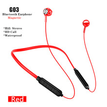 G03 Neck Hanging Bluetooth wireless Earphone Magnetic HIFI stereo Headset In-ear