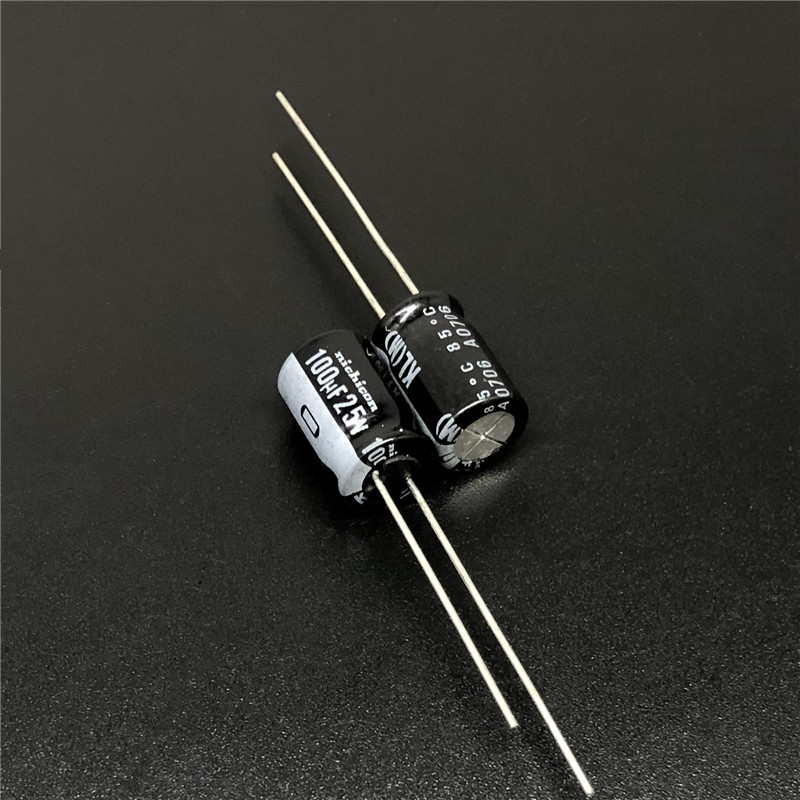 10pcs 100uF 25V NICHICON KL 8x11.5mm 25V100uF Low Leakage Current Aluminum Electrolytic Capacitor