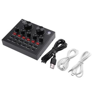 Image 5 - Внешняя звуковая карта VKTECH V8 с USB, 112 видов электрического звука + 18 видов звуковых эффектов + 6 видов звуковых режимов