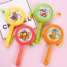 New cartoon baby toy rattle color plastic hand drum child children whistle boy girl favorite