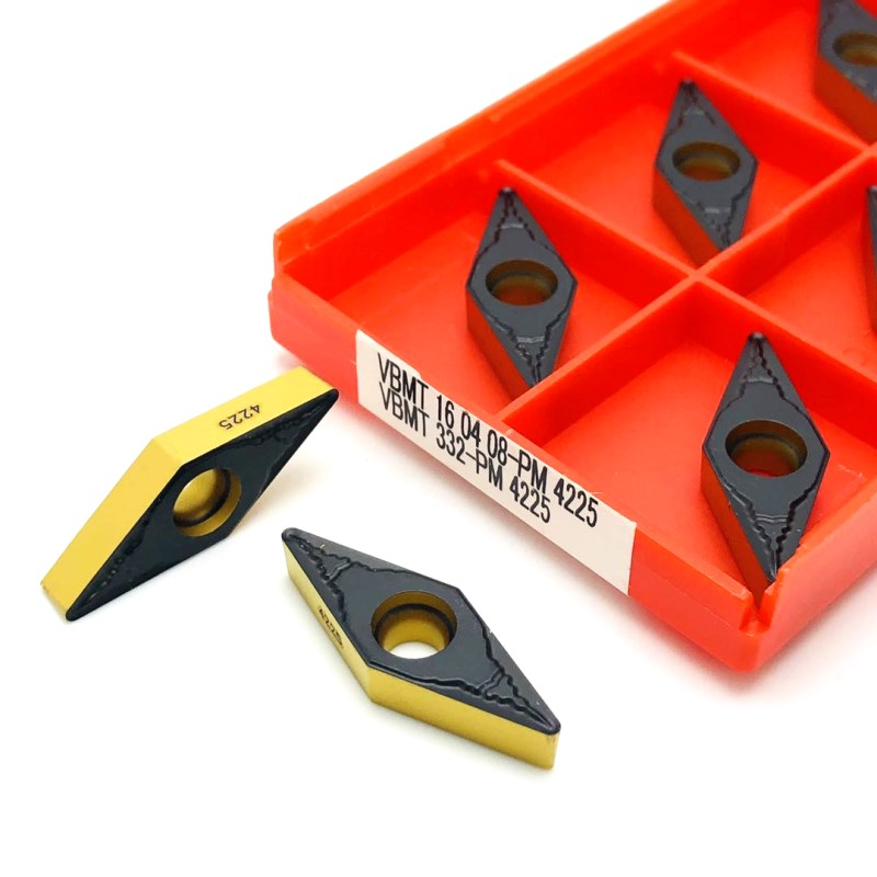 VBMT160408 PM 4225 High-quality Cermet Grade 100% Carbide Insert CNC Lathe Indexable Cutting Tool <font><b>VBMT</b></font> <font><b>160408</b></font> Turning Inserts image