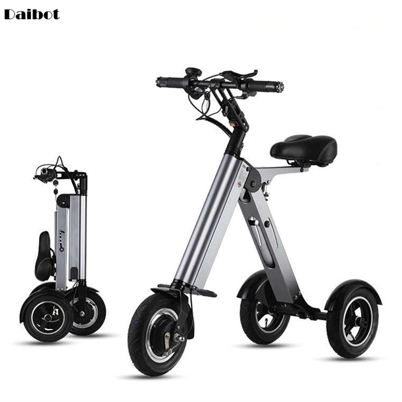 10 Inch <font><b>Electric</b></font> Tricycle <font><b>Scooter</b></font> Off Road Three Wheels <font><b>Electric</b></font> <font><b>Scooters</b></font> Foldable Kick <font><b>Scooter</b></font> <font><b>Electric</b></font> 36V <font><b>250W</b></font> Range 45KM image