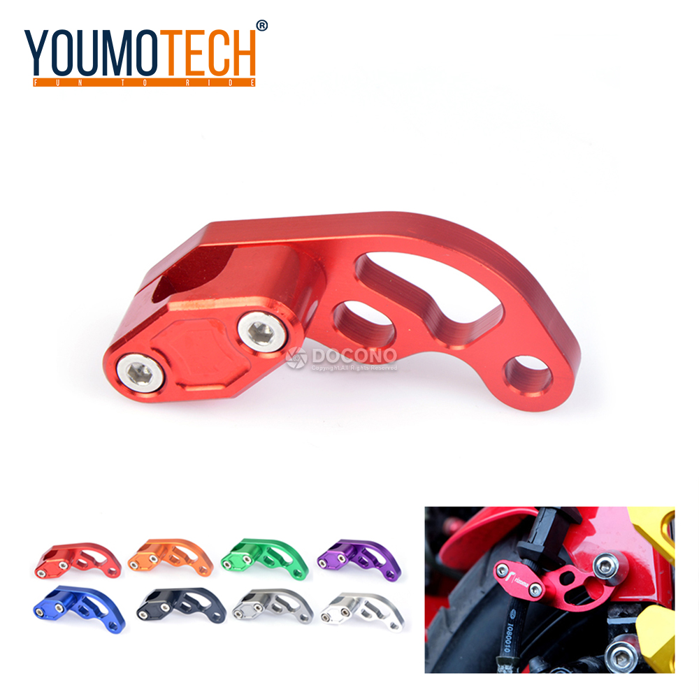 Universal Motorcycle CNC Hose Tube Line Clamps Clip For YAMAHA xvs 1100 dragstar mt-10 mt-09 tracer yzf r1 yzf-r25 tdm 850 etc.