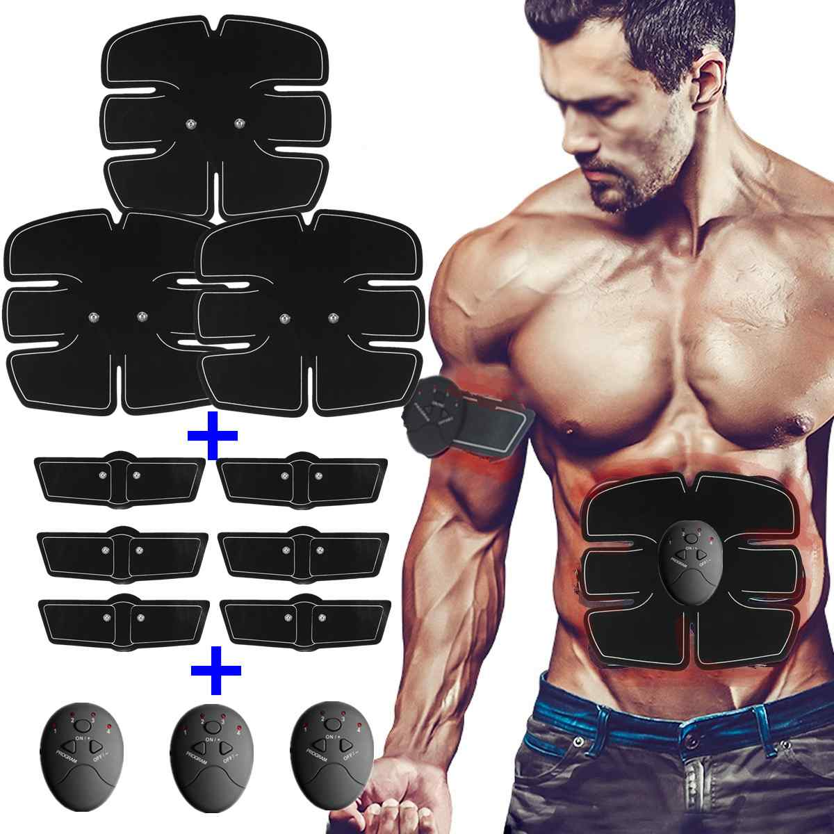 Muscle Training Gear 10 Grade 6 Mode Unisex EMS Muscle Trainer Musculation Fat Burning Body Fitness Stimulator Weight Loss