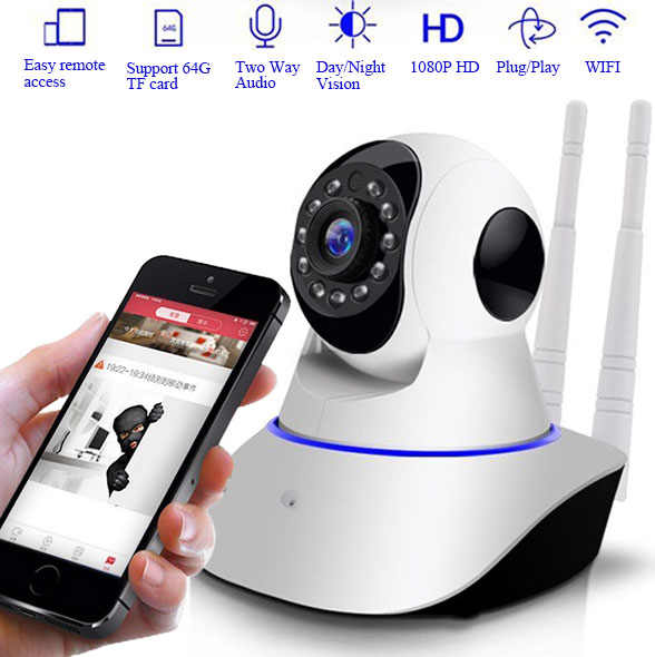Yoosee Aplikasi 2MP HD 1080P PTZ WIFI IP Kamera Ir-potong Malam Visi Two Way Audio Pengawasan CCTV smart 720P Ip Kamera Kartu SD Lihat