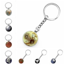 2020 New World Globe Keychain Glass Convex Personality Pendant Gift Key Chain  Gifts for Men