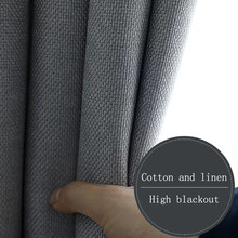 Cortina da janela de linho algodão na cozinha cortinas do quarto para sala estar moderna sala jantar alta cortina blackout
