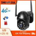 IP-камера shiвоенia, 4G, SIM-карта, Wi-Fi, 4-кратный цифровой зум, PTZ
