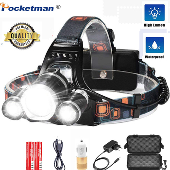8000 Lumens 5 Led Headlamp XML T6 Powerful Taclical Torch Led Headlight with 18650 battery Waterproof Flashlight Lights for Camp sitemap 33 xml