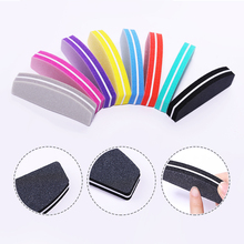 Пилочка для ногтей, полировщик для ногтей, шлифовальный блок, 4 стороны, полированный лайм, губка для ногтей, Полировочный блок, шлифовальная губка