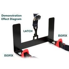 Kit de montaje de anclaje de seguridad para asiento de coche, conector Universal de acero para cinturón ISOFIX, pestillo de soporte de cinturón de seguridad para niños