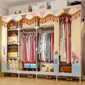 Image 3 - GIANTEXผ้าตู้เสื้อผ้าสำหรับเสื้อผ้าผ้าพับแบบพกพาตู้เก็บตู้ห้องนอนเฟอร์นิเจอร์