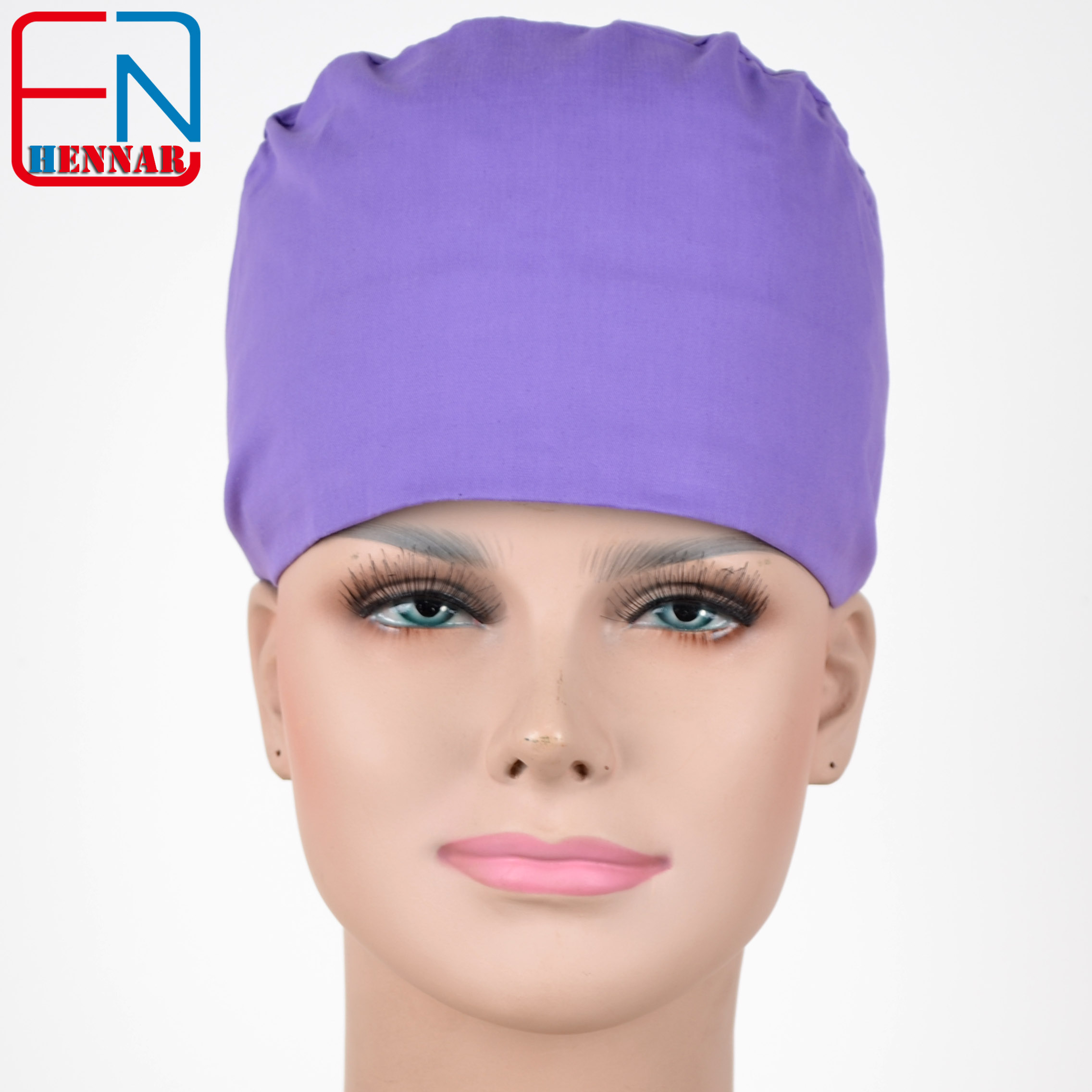 Hennar Surgical Caps For Doctors And Nurses Caps,100% Cotton Scrub Caps In Light Blue