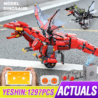 Yeshin App Control Toys With Sound Music Compatible With 70612 Mecha Dragon Set Building Blocks Bricks Programming Assembly Toys