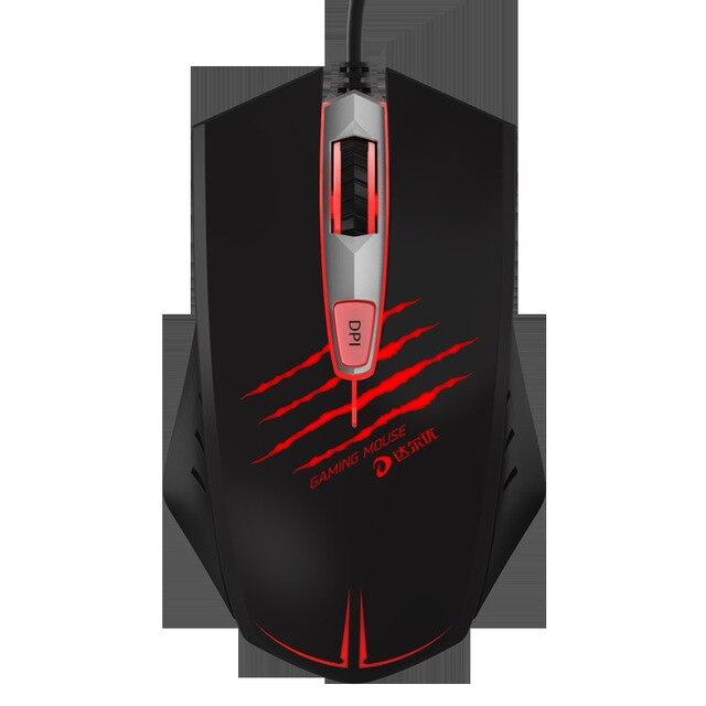 профессиональная игровая мышь xq 4000 точек/дюйм эргономичная фотография