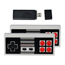Wireless Controller Game Console Built-in 620 NES Classic Nostalgic Games 8-bit FC with 2.4G TV Stick